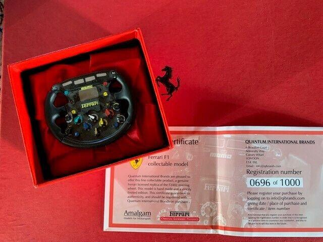 Ferrari F2002 Die Cast Model Steering Wheel, Limited Edition