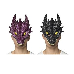 Adult Dragon Costume Mask Game Of Thrones Toothless Halloween Black Purple