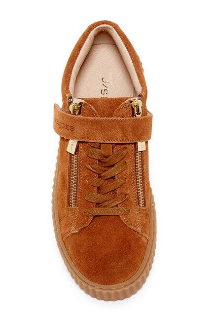 NIB Lace J/Slides Papper Platform Zip Sneaker Suede Leder Damens Lace NIB Up Schuhe US 7.5 4fcf32