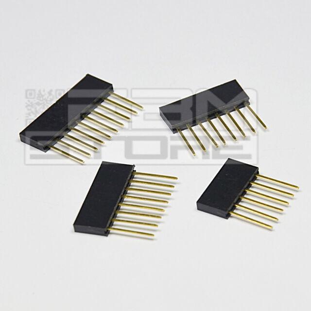 KIT 4 pz connettori strip line femmina LUNGHI per ARDUINO - ICSP - ART. AW04