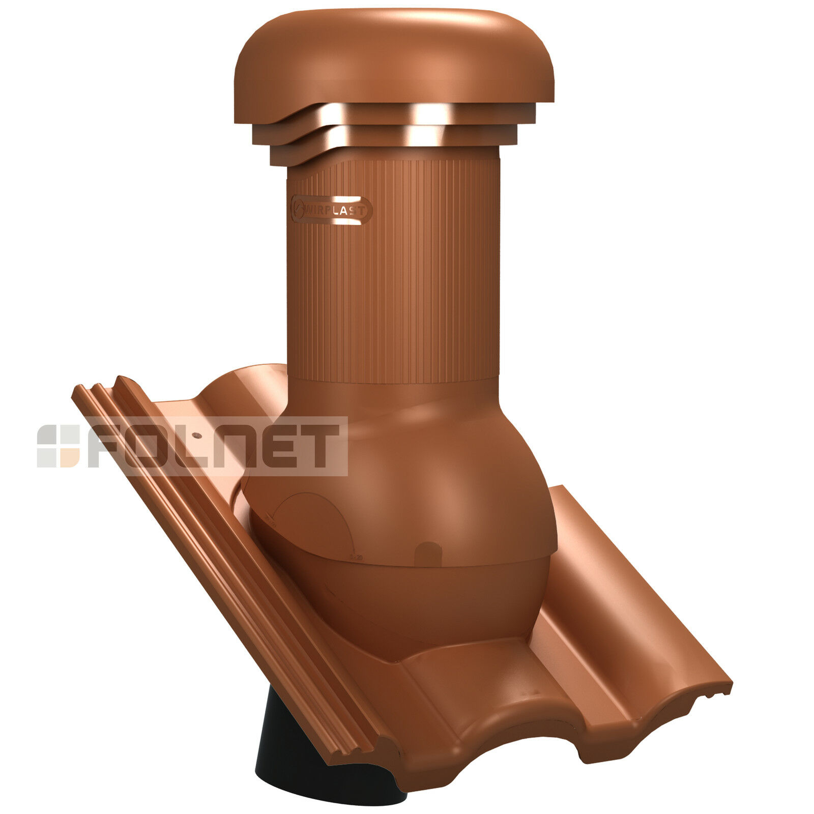Entlüfterkamin PRO DN125 für Nelskamp Kronen Dachziegel Lüfter mit Ventilator