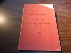 1906 BOSTON ELEVATED RAILWAY COMPANY NINTH ANNUAL REPORT