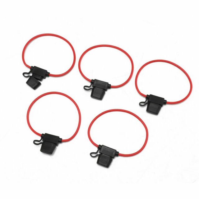 8Pcs Medium Blade Fuse Holder ATC ATO Waterproof 10AWG In-Line Wire For Car