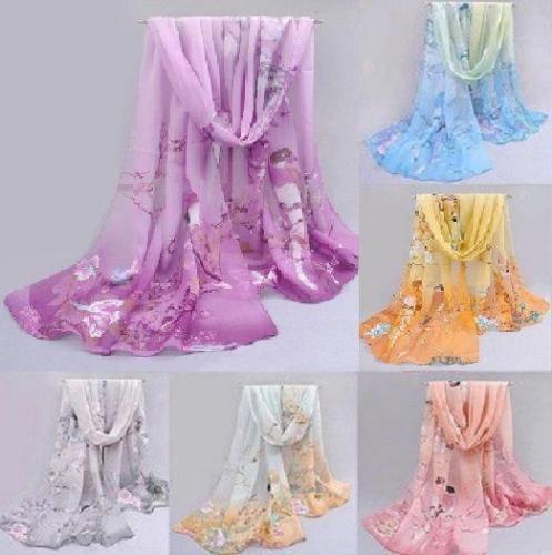 NEU Fashion Chiffon Women Ladies Spring Scarf Neck Shawl Bird Scarves Wrap