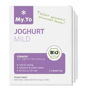 my yo joghurt ferment mild 3x 5g bio yoghurt herstellung kulturen pulver jogurt ebay. Black Bedroom Furniture Sets. Home Design Ideas