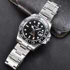 Parnis 40mm GMT Ceramic Bezel Sapphire Glass black dial Auto Date men's watch P
