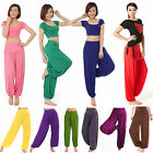 Womens Harem Genie Yoga Dance Pants Aladdin Belly Hippie Baggy Jumpsuit Trousers