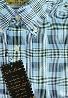 NWT Gold Label Roundtree /& Yorke No-Iron Long-Sleeve Red Men/'s Shirt LT NEW $79