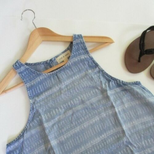Cloth & Stone Top Blue Chambray Sleeveless Size Sm