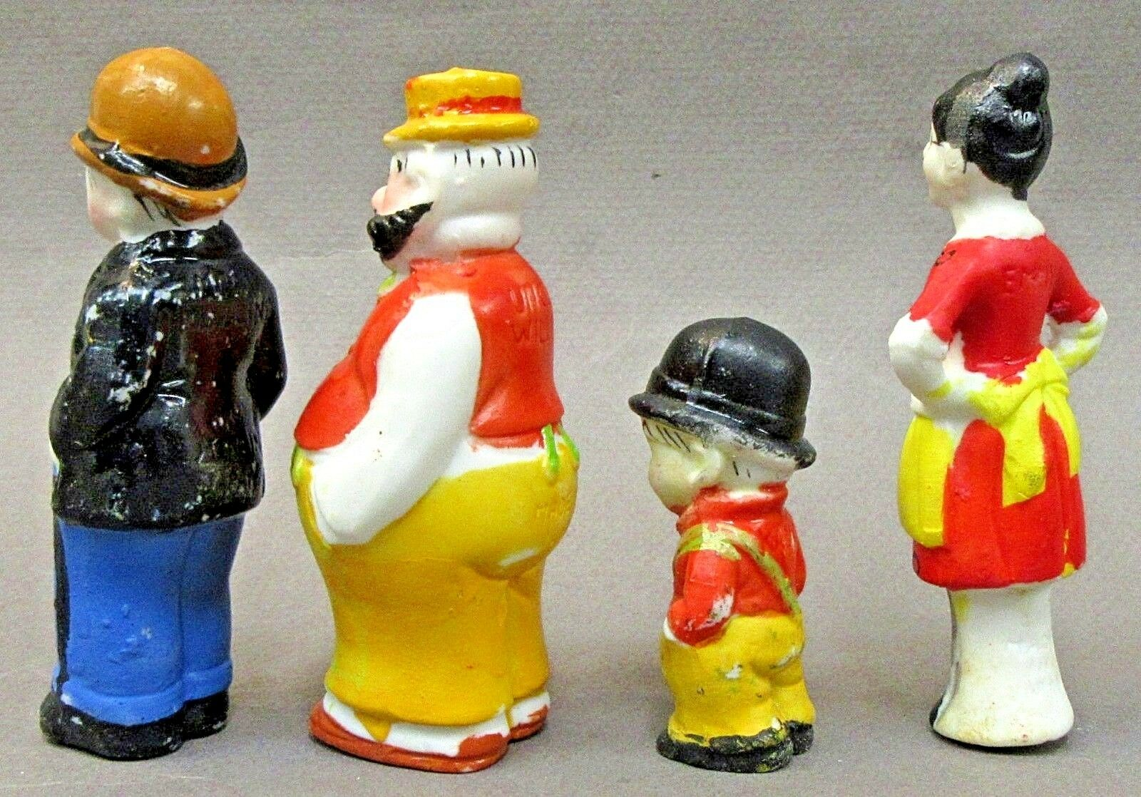 1930's MOON MULLINS BOXED SET Comic Comic Comic character Japanese bisque figures e5ee8d