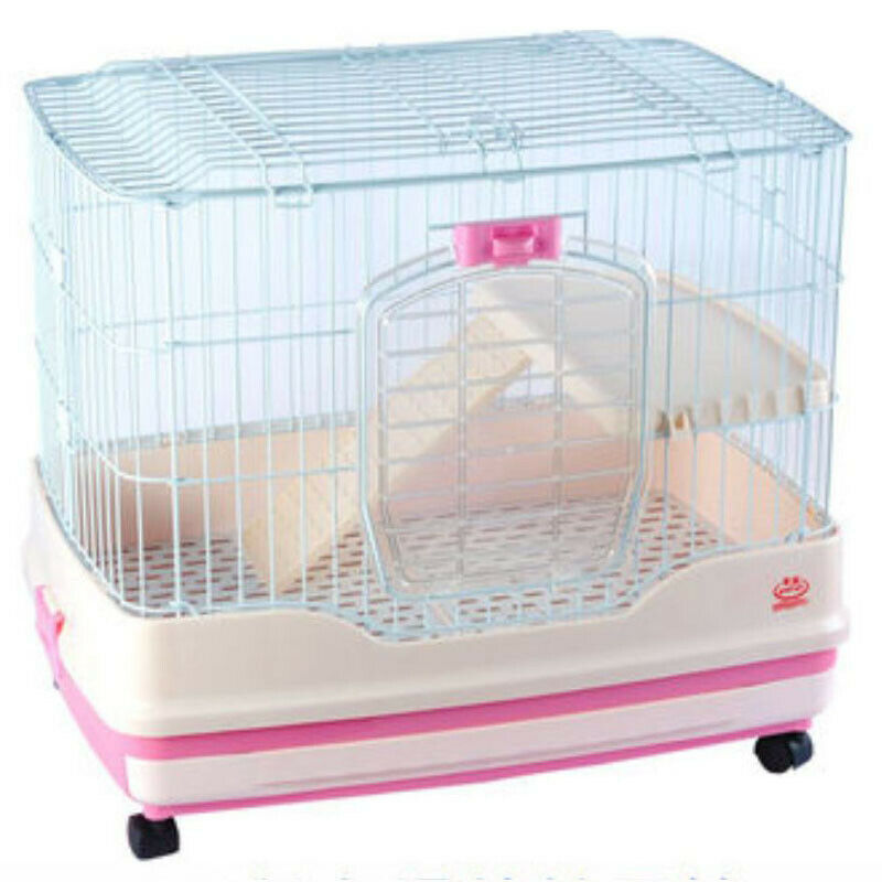 Rabbit Cage Guinea Pig Cage Drawer Large Pet Rabbit Cage Cat Cage With Wheels