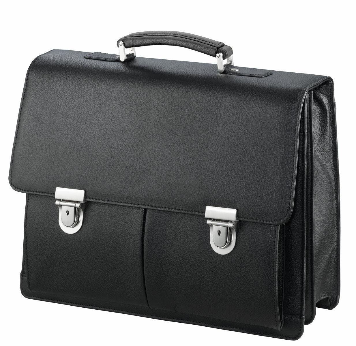 Aktentasche-Arbeitstasche-Umhängetasche Leder-Tasche-Schwarz 40 x32x14cm–Bowatex | Moderner Modus  | Online-verkauf  | Starke Hitze- und Abnutzungsbeständigkeit