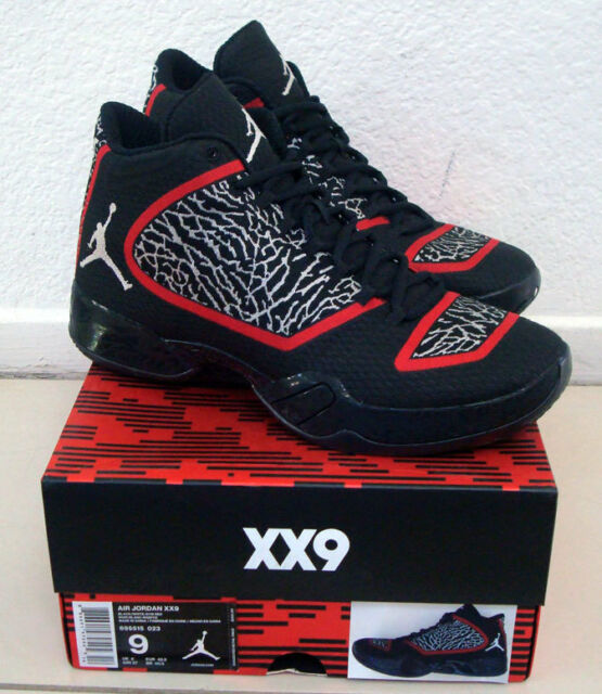 best sneakers c3ff4 9a4c3 DS Nike Air Jordan XX9 29 Bred Elephant Print Cement Black/Red/White size 9