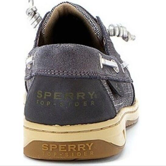 New Sperry Top-Sider WOMEN'S METALLIC LINEN 3-EYE BOAT WOMEN'S Top-Sider  Größe 8 74d95a