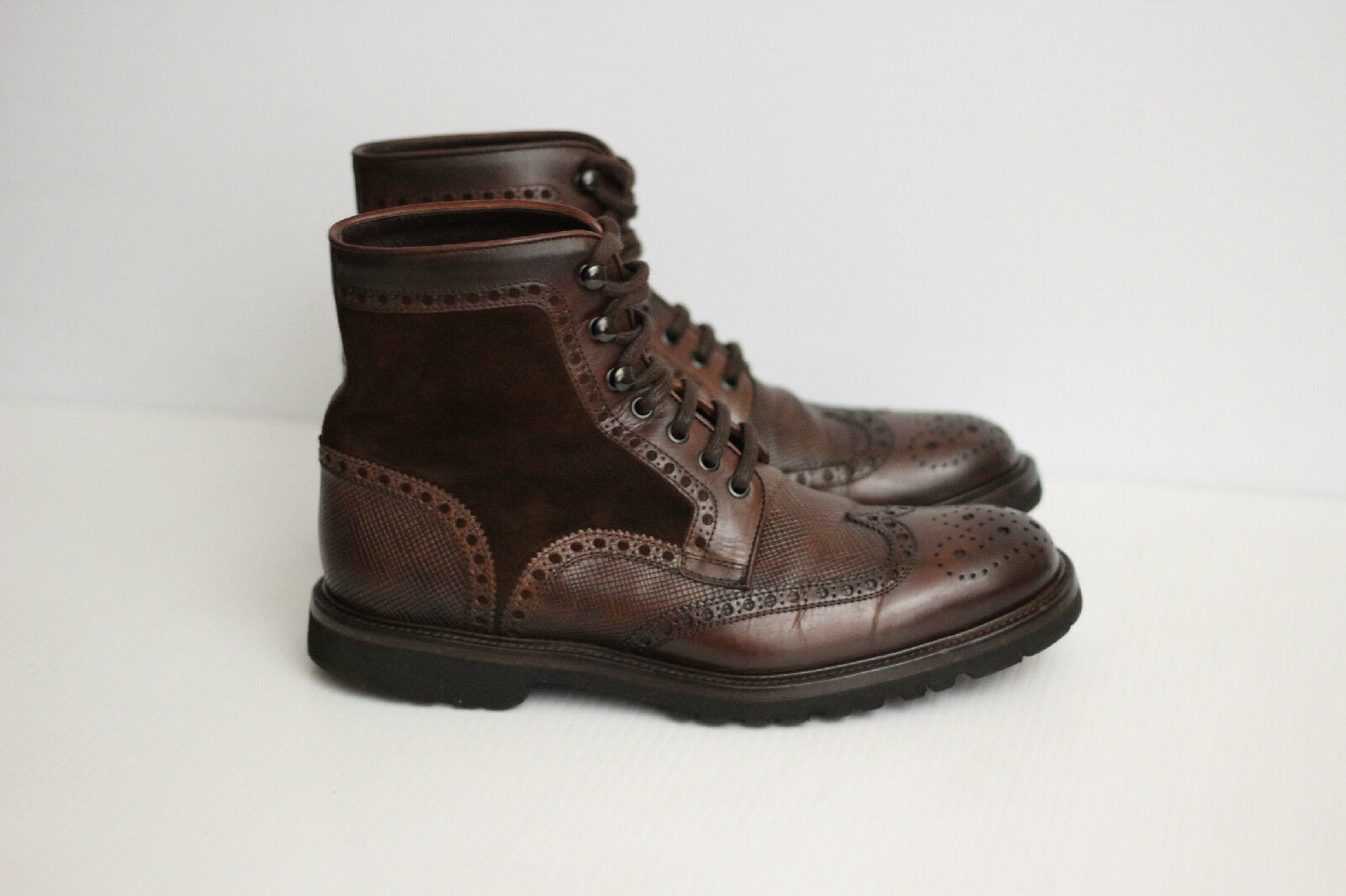 Magnanni 'Enzo' Wingtip Boot - Brown Pelle - 7.5 M - 15213  (C51)