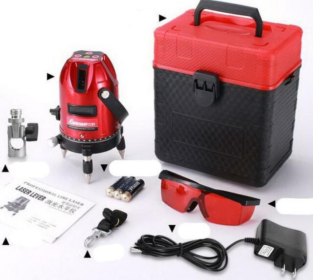 Professional Automatic Self Leveling 5 Line 6 Point 4V1H Laser Level Measure XG