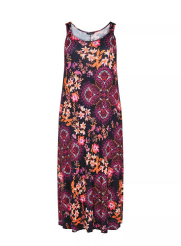 Plus Size 20 BNWT Evans Purple Floral Print  Maxi Dress