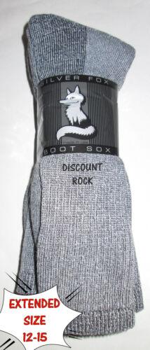 3 Pairs EXTENDED Size 12-15 Mens Cabelas 65/% MERINO Wool Mid Calf Thermal Socks