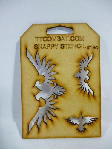 Snappy Stencils TTCombat Birds of Prey Eagles and Ravens 18 C