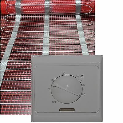 12,0 x 0,5 m OHNE Thermostat 960 Watt PREMIUM Fu/ßbodenheizung elektrisch Fliese Bad Heizmatte 6,0 m/² 960 Watt