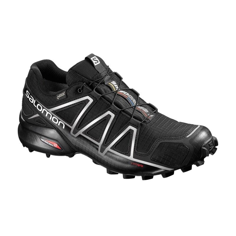 Salomon Speedcross Speedcross Salomon 4 GTX schwarz/silber - Herren Trail Laufschuhe Outdoor 383181 1e785b