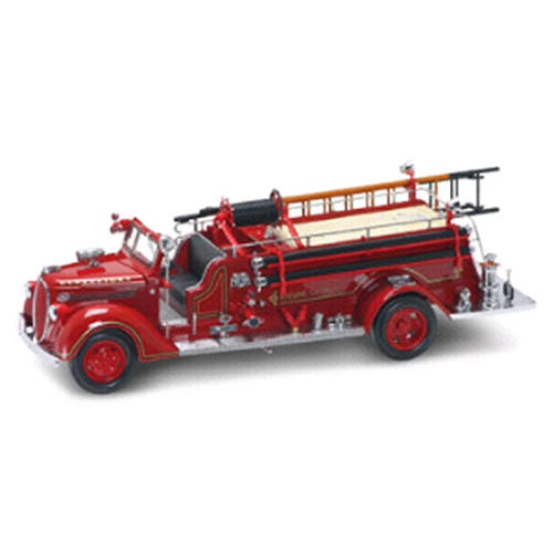 FORD FIRE ENGINE 1938 1:24 Yat Ming Pompieri Die Cast Modellino