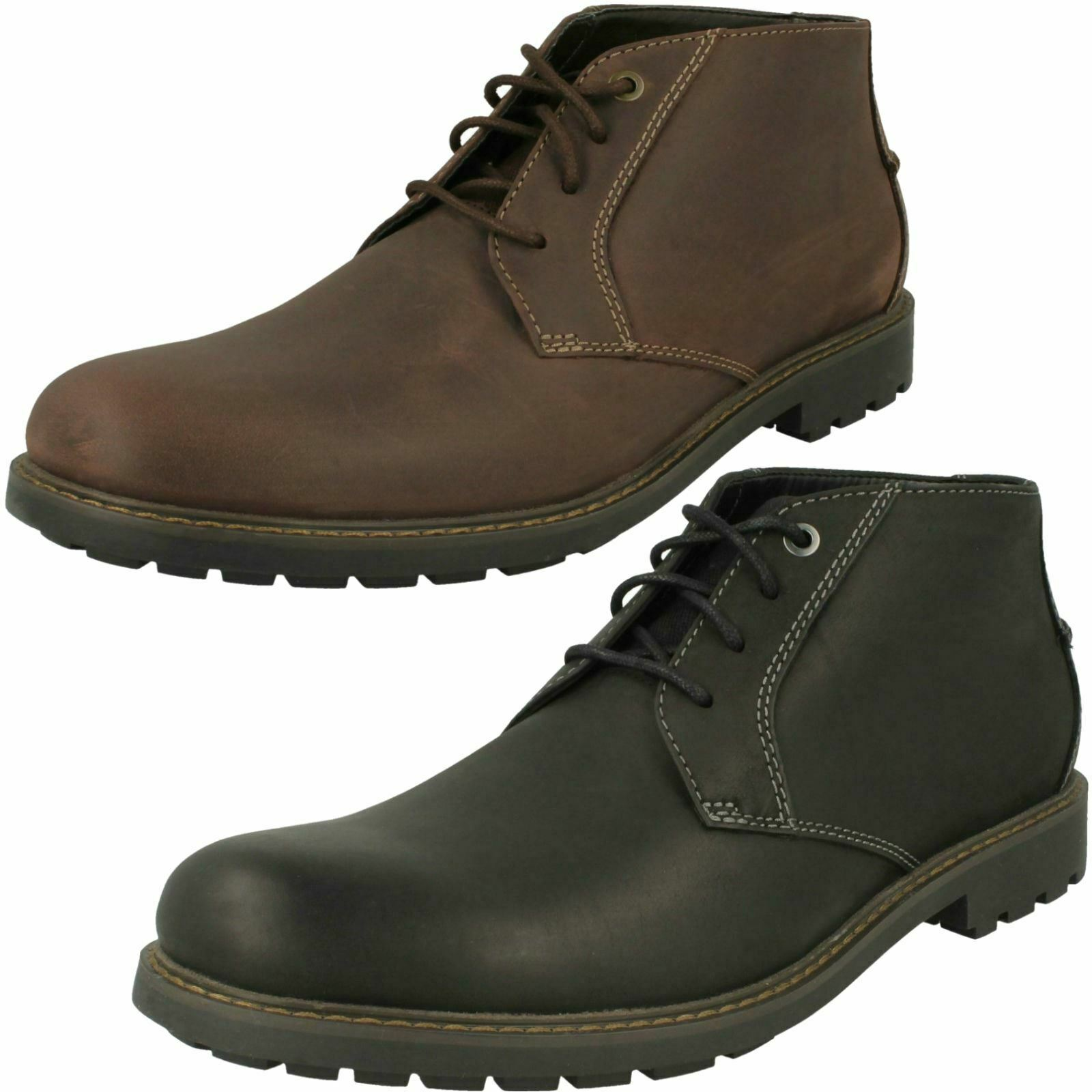 Mens Clarks Stylish Lace Up Ankle Boots Curington Over