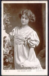 Actress-Miss-Adrienne-Augarde-Pre-1914-Vintage-Real-Photo-Postcard-Free-Post