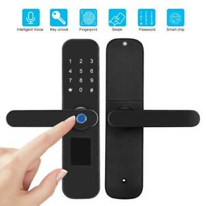 Blocco-delle-impronte-digitali-Smart-Door-Lock-Password-Touch-Screen-IC-Card-Key
