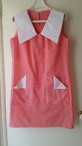 NEW-Retro-inspired-houndstooth-shift-dress-size-12