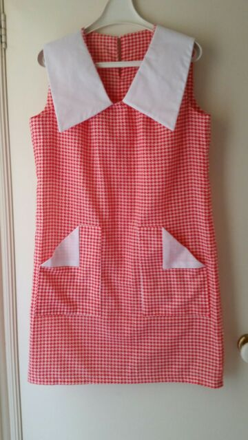 NEW Retro inspired houndstooth shift dress, size 12