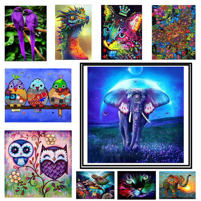 5D DIY Full Drill Square Diamond Painting Animal Cross Stitch Embroidery Kits