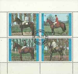 Timbres-Chevaux-Sharjah-Lot-B-o-lot-596