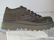 SKECHERS WOMENS 9 HIKING BOOTS OIL TAN LEATHER ANKLE MOUNTAINEERING PLATFORM