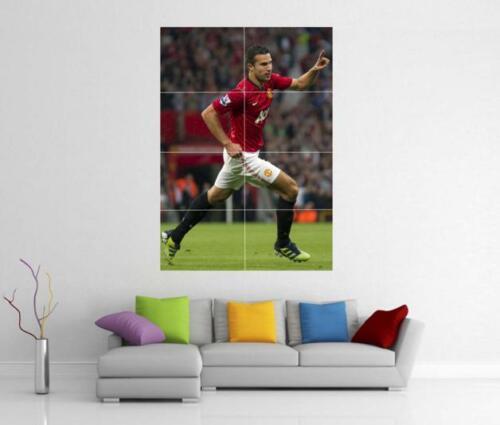 ROBIN VAN PERSIE MAN UNITED MANCHESTER MUFC FC GIANT WALL ART PRINT POSTER H107