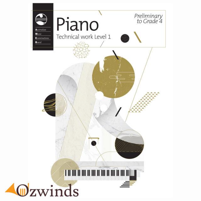 AMEB Piano Technical Work: Level 1 (Preliminary to Grade 4) - 2018