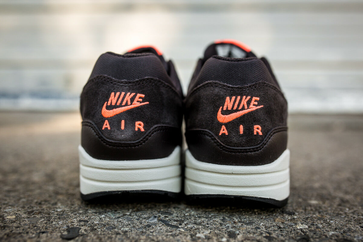 New Nike Air Max 1 Premium PRM sz 10.5 Mens DS 875844-202 Velvet Brown Atmos
