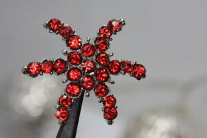 Attractive-Red-Strasknopf-Star-Shape-Probably-From-2010