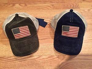 Polo Ralph Lauren big pony USA flag trucker baseball hat cap ... e5e46d1cf47bf