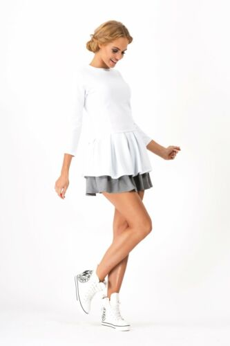 Ladies Lovely Tiered Mini Dress Skater Style Cocktail Tunic Sizes 8-10 FA358