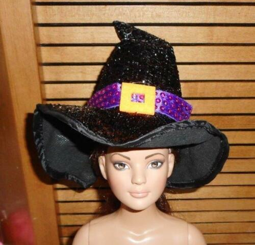 Shiney,Nubby Black Halloween Hat w//Purple Band American Model 22 in Doll