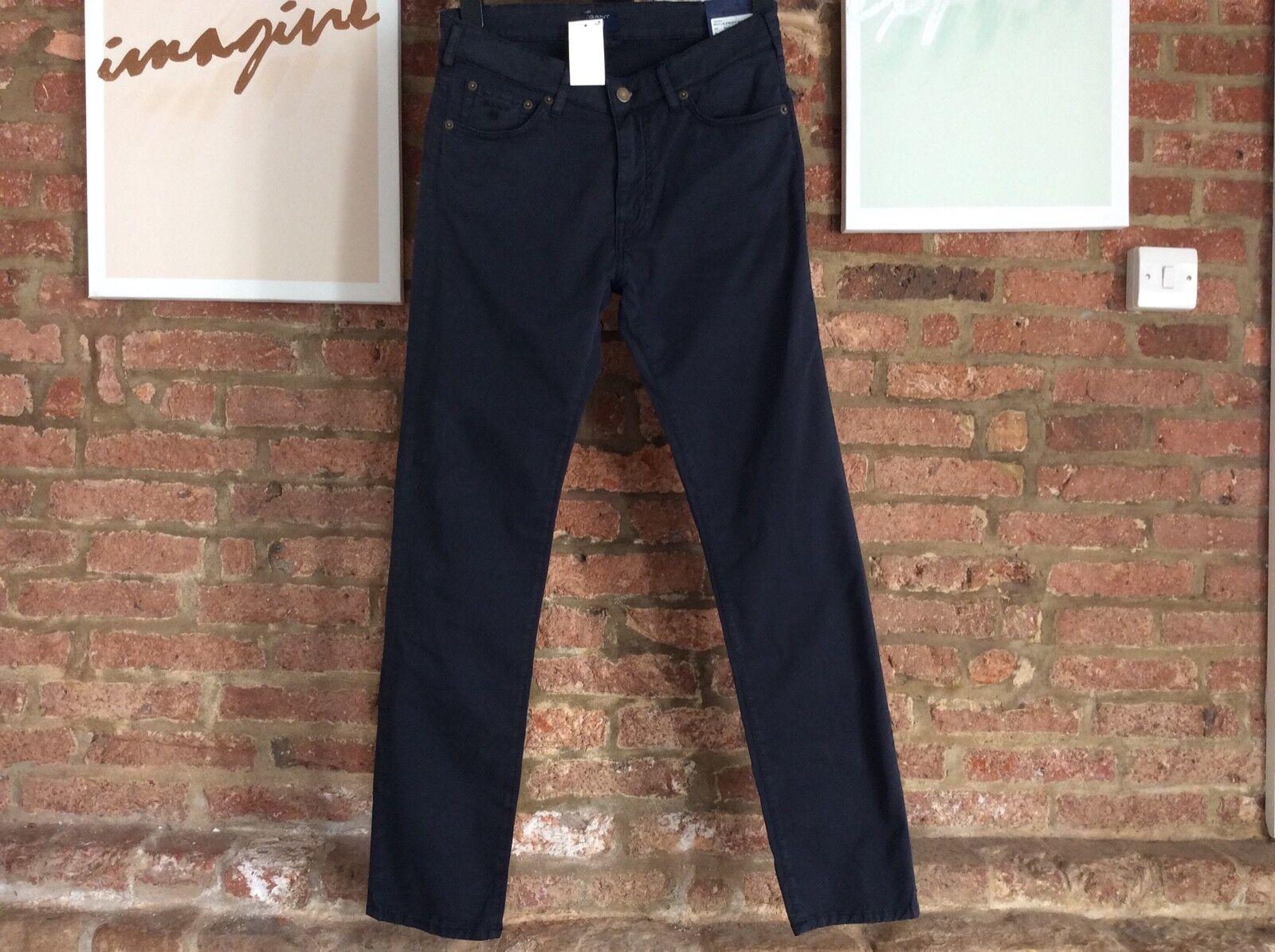 Men's GANT micro twill straight leg jeans NAVY W30 L32