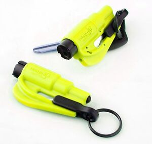 2 pack new resqme escape tools seatbelt cutter glass breaker safety yellow. Black Bedroom Furniture Sets. Home Design Ideas