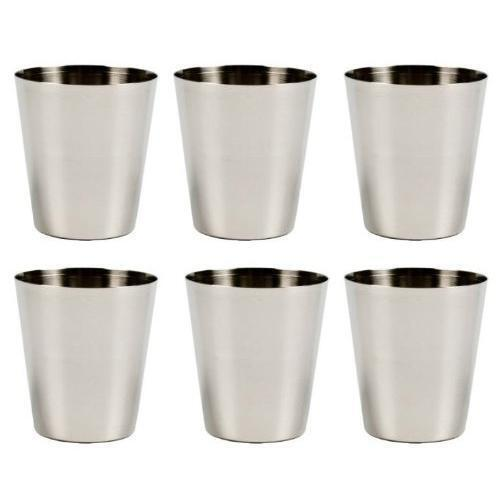 6PCS Stainless Steel Shot Wine Glass Glasses 2 fl Ounce Set of 6 Party Bartender