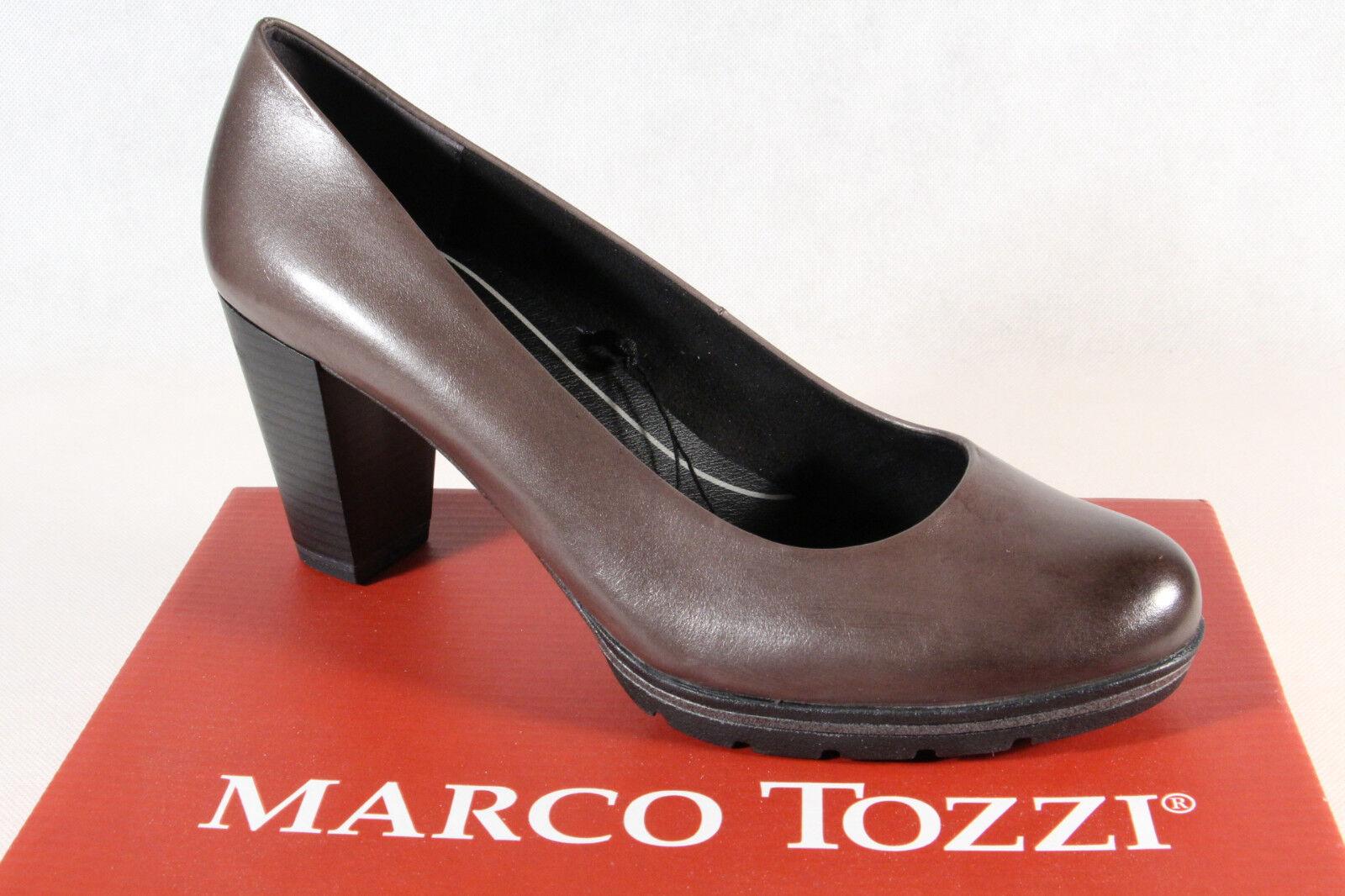 consegna gratuita e veloce disponibile Marco Tozzi Décolleté Pantofola Pantofola Pantofola Mocassino Grigio Feel Me Soletta pelle Nuovo  alta quaità