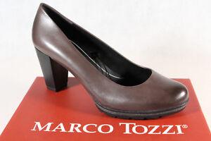 Marco-Tozzi-Pumps-Slipper-Trotteur-grau-feel-me-Lederinnensohle-Leder-NEU
