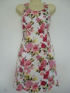 NEW-PRIMARK-LADIES-GIRLS-SUMMER-FLORAL-SLEEVELESS-CROSS-BACK-MINI-DRESS