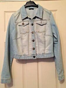 Ladies-Blue-Denim-Jacket-Long-Sleeve-Asda-George-Size-12-Summer-Beach-B17