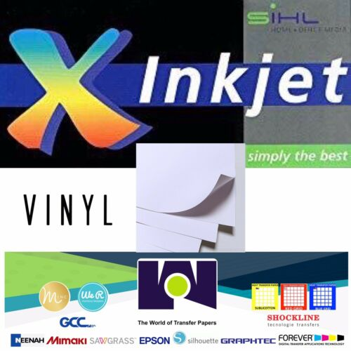"8.5/""x11/"" Waterproof By SIHL Inkjet Printable White GLOSSY STICKER Vinyl 5 Sh"