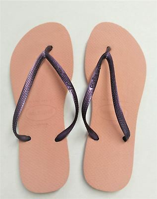 Brasil 39//40 Havaianas Slim Shocking Pink Flip Flops UK 6//7